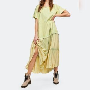 NWT Free People Sun Fade Midi Dress